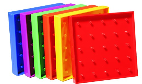 Learning Advantage 7728 Plastic Geo Boards, 5 x 5 Pin Array, 5