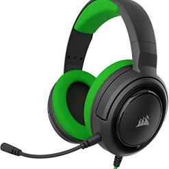 Corsair HS35 Stereo Gaming Headset (Custom 50 mm Neodymium Speakers, Detachable Unidirectional Microphone, Lightweight Build with Xbox One, PS4, Nintendo Switch & Mobile Compatibility) – Green