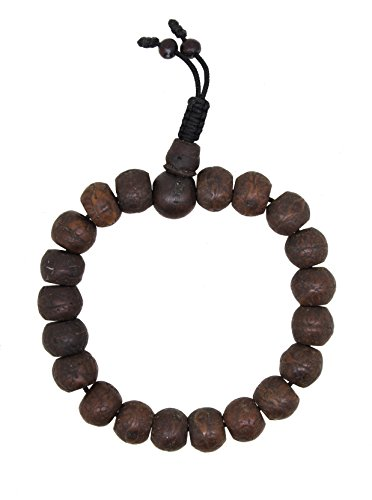Yoga Meditation Wood Bodhi Seeds Prayer Beads Wrist Mala Stretch Bracelet (Bodhi Seeds)