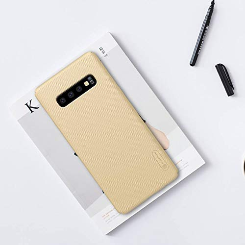 """41KfuYnUrvL - Nillkin Case for Samsung Galaxy S10 Plus (6.4"""" Inch) Super Frosted Hard Back Cover Hard PC Gold Color"""