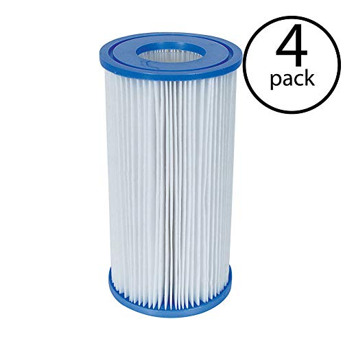 Coleman Type III 90307 A/C Swimming Pool Filter Pump Replacement Cartridge (4 Pack)