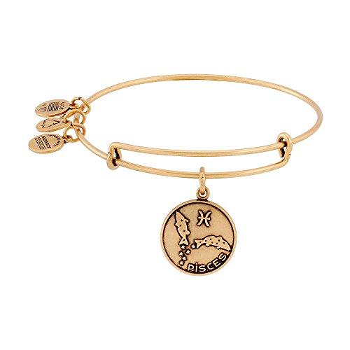Alex and Ani Pisces II Expandable Rafaelian Gold-Tone Wire Bangle Bracelet, 7.25'
