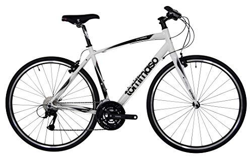 Tommaso La Forma Lightweight Aluminum Hybrid Bike -White/Black - Medium