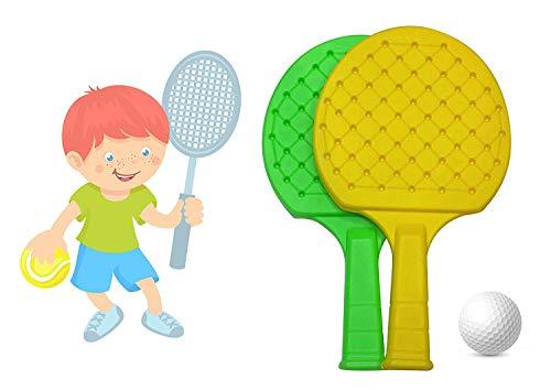 41KhxUGBu2L - FULLY Kids Indoor Outdoor Play Hand Eye Coordination Table Tennis Racket Return Gift for Kids, 50 Grams, Pack of 1