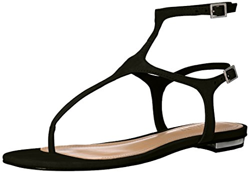 41Kn00FqU7L Glittery thong sandal featuring adjustable ankle strap and adjustable backstrap Gold-tone inset at micro heel