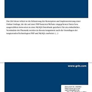 Aufbau einer Online-Umfrage auf Basis von MySQL und PHP (German Edition) 41KnCTuZY0L