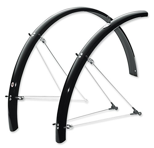 SKS B53 Commuter 2 Bicycle Fender Set (Black, Fits Tire Sizes 700 x 38-47)