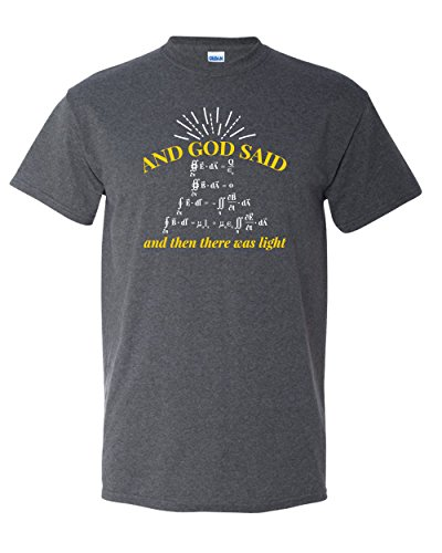 and God Said Let There Be Light Big Bang Physics Science Pun Math Funny Adult Graphic Tee Humor Mens T-Shirt (2XL)