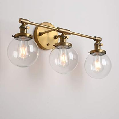 Permo-Vintage-Industrial-Antique-Three-Light-Wall-Sconces-with-Mini-59-Round-Clear-Glass-Globe-Shade-Antique