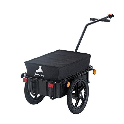 Aosom Enclosed Bicycle Cargo Trailer - Black