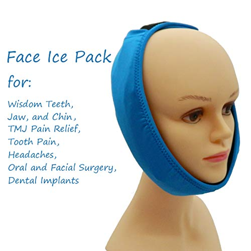 Face ice Pack for Jaw, Head and Chin, 2 Reusable Sizzling or Chilly Gel Packs Ache Reduction for TMJ, Oral and Facial Surgical procedure, Dental Implants deal 50% off 41Kun9qXKhL