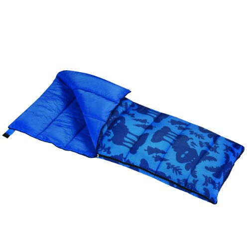 Wenzel Moose Boys 40 Degree Sleeping Bag, Blue - Stuff Sack Included