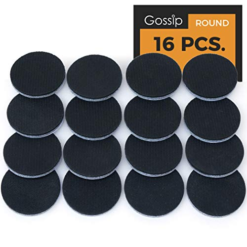 Non-Slip Furniture Grippers – 16 x 2' Round Premium Self Stick Rubber Pads for Furniture Legs, Rubber Stoppers for Furniture, Non Skid Furniture Pads
