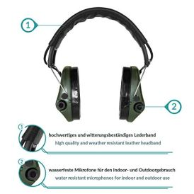 Sordin-Supreme-Pro-X-Adjustable-Active-Safety-Hearing-Protection-with-Gel-Seals-Leather-Headband-and-Green-Cups