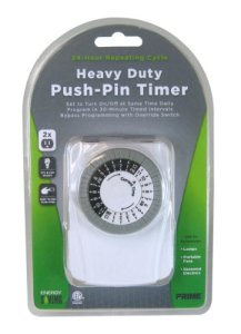Prime Wire & Cable TNI2423 2-Outlet Wall Tap with 24 Hour Electro Mechanical Timer
