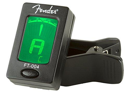 Fender Clip-On Tuner FT-004 for Guitar, Ukulele, Bass, Violin, Mandolin, and Banjo