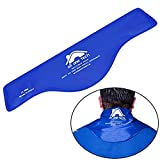 Blue Neck Ice Pack - Cold Compress Shoulder Therapy Wrap Shoulder Ice Pack - Hot & Cold Therapy Pack Gel Ice Packs for Swelling, Injuries, Headache, Cooler(21')