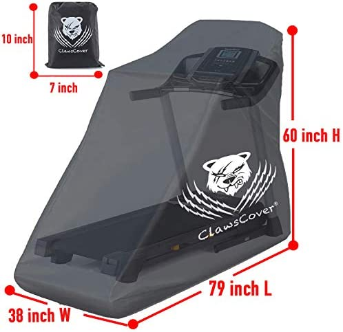 ClawsCover Treadmill Cover Waterproof Dustproof Running Machine Cover Exercise Workout Equipment Protective with Windproof Drawstring and Air Vents for Home Gym Indoor Outdoor 4