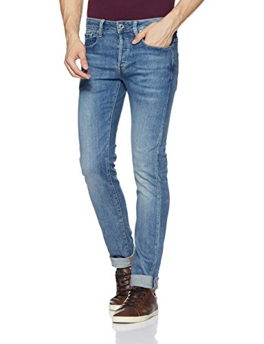 41LEQW0dqIL Slim-fit jean featuring whiskering at hips and placed fading Five-pocket styling Zip fly with button closure