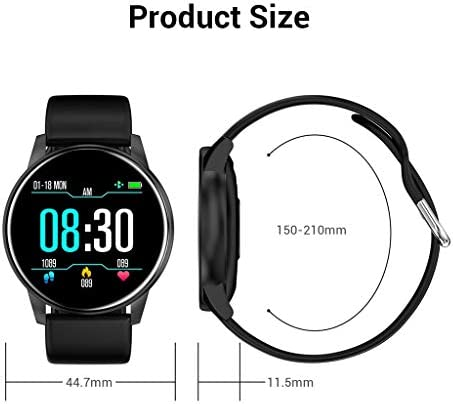 2020 New Sports Smart Watch, High-Definition Fitness Smart Bracelet Touch-Screen IP67 (Black) 5