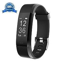 Braccialetto Fitness HolyHigh YG3 Plus HR con Cardiofrequenzimetro da Polso, Bracciale Intelligente Impermeabile/Contapassi/Notifiche per le Chiamate/Monitoraggio del Sonno per Android e iOS