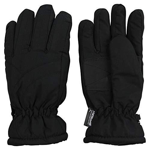 Urban Boundaries Womens/Girls Warm Winter Waterproof Thinsulate Snow Gloves (Black, Large)