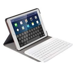 41LJLMJy4aL - Keyboard Case for iPad 10.2 2019 7th Generation, Slim Folio Smart Case Stand Shell Cover with Detachable Wireless Keyboard for Apple iPad 10.2 inch(A2197 / A2198 / A2200) (Brown Case+White Keyboard)