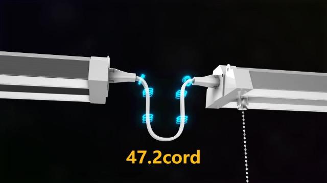 Bbounder-6-Pack-Linkable-LED-Utility-Shop-Light-4-FT-4000-LM-48-Inch-Integrated-Fixture-for-Garage-40W-Equivalent-300W-5000K-Daylight-Suspension-Mount