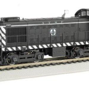 Bachmann Industries Alco S4 Diesel Switcher Dcc Equipped Locomotive ATSF #1528 (Zebra Stripe) N Scale Train Car 41LSIFMFeJL