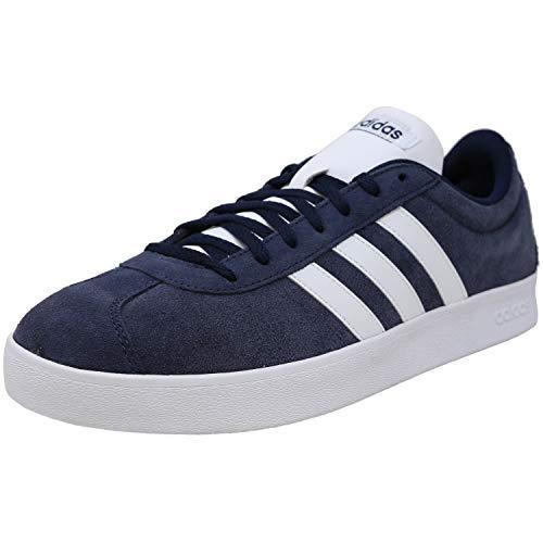 adidas Performance Men's VL Court 2.0 Sneaker,  Collegiate Navy/White/White,  9.5 M US
