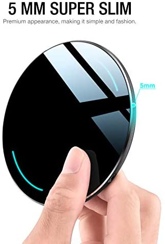 TOZO W1 Wireless Charger Thin Aviation Aluminum Computer Numerical Control Technology Fast Charging Pad Black (NO AC Adapter) 16