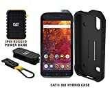 CAT S61 Single SIM 64GB Unlocked Smartphone with 10,000mAh Rugged Power Bank & CAT S61 Hybrid Case - North American Variant - 2 Year Warranty
