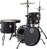 Ludwig LC178X016 Questlove Pocket Kit 4-Piece Drum Set-Black Sparkle Finish, inch (