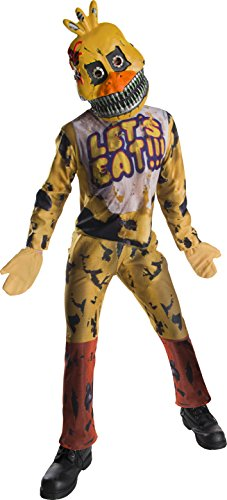 Animatronics costumes - Rubie's Costume Boys Five Nights At Freddy's Nightmare Chica The Chicken Costume, Large, Multicolor