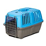 Pet Carrier: Hard-Sided Dog Carrier, Cat Carrier, Small Animal Carrier in Blue| Inside Dims 17.91L x 11.5W x 12H & Suitable for Tiny Dog Breeds | Perfect Dog Kennel Travel Carrier for Quick Trips