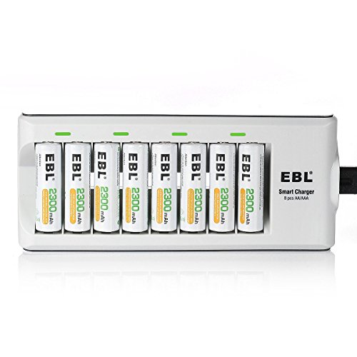 EBL Charger with 8 Battery
