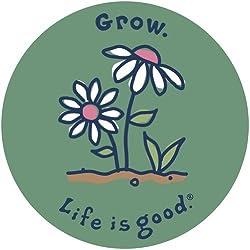 "Life is good. 4"" Sticker - Grow"