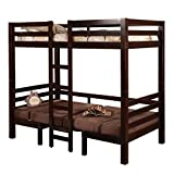 Product review for Coaster Home Furnishings  Modern Convertible Twin over Twin Workstation Loft Bunk Bed - Cappuccino / Brown Microfiber