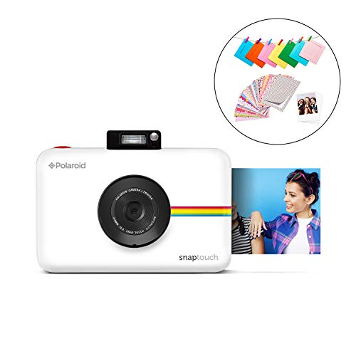 Zink Polaroid SNAP Touch 2.0 – 13MP Portable Instant Print Digital Photo Camera w/ Built-In Touchscreen Display, White 1