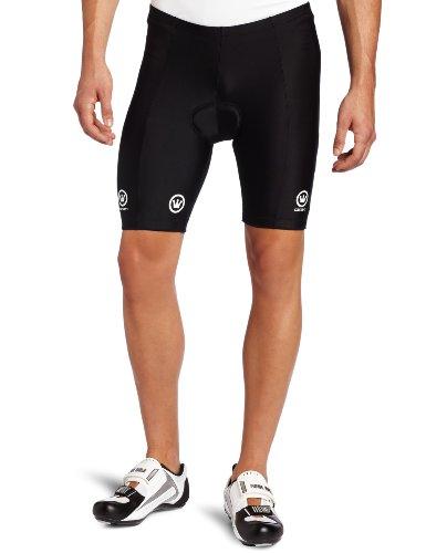 Canari Cyclewear Men's Velo Padded Cycling Short (Black, Large)