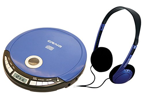 Craig Electronics Personal CD Player with Headphones, Blue (CD2808-BL)