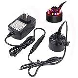 12 LED Ultrasonic Mist Maker Fogger Water Fountain Pond+Power Adapter
