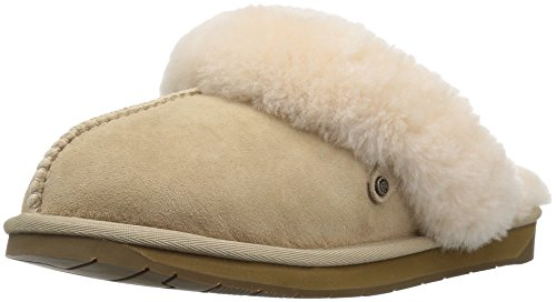 7135Y1bSTZL Slide slipper featuring foam-cushion insole and shearling lining Durable rubber sole can be worn indoors or outdoors