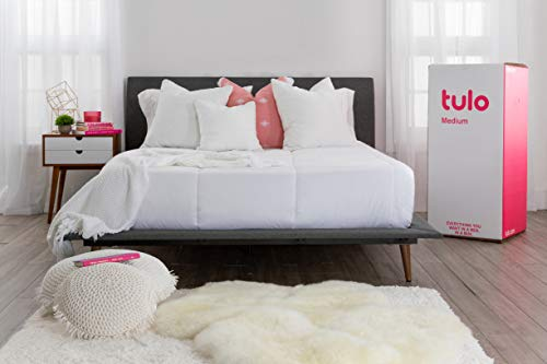 Mattress by tulo, Pick your Comfort Level, Medium Twin XL Size 10 Inch Bed in a Box, Great for Sleep and Balance Between Soft and Firm