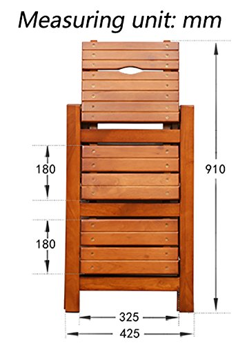 LQQFF Solid wood folding staircase stool, multi-function ladder stool, kitchen step stool. -Multi-function step stool (Color : Honey color)