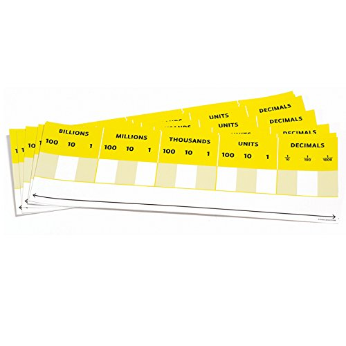 Didax 211498 Educational Resources Desktop Place Value Cards-Set of 10, Multicolor