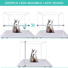 Travor-Photo-Light-Box-Kit-32x32Inch-Dimmable-Photo-Studio-Professional-Shooting-Tent-with-LED-Lights-4-Backdrops-Black-White-Red-Blue-for-Photography-Brightness-13000lm-CRI95