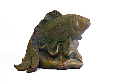 A fish-shaped fountain spitter perfect for landscapes and gardens.