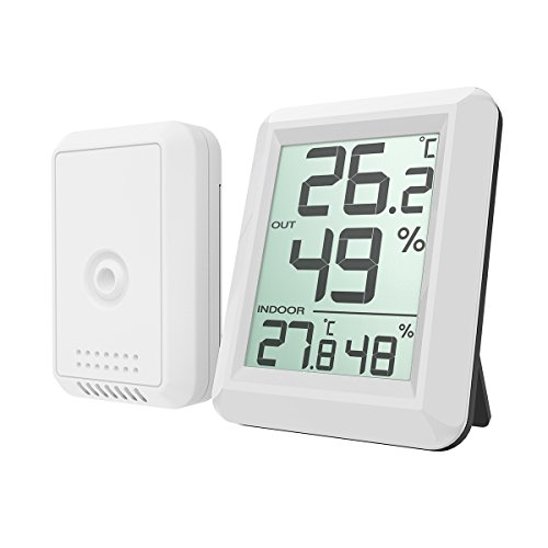 Amir Digital Hygrometer Indoor Outdoor Thermometer