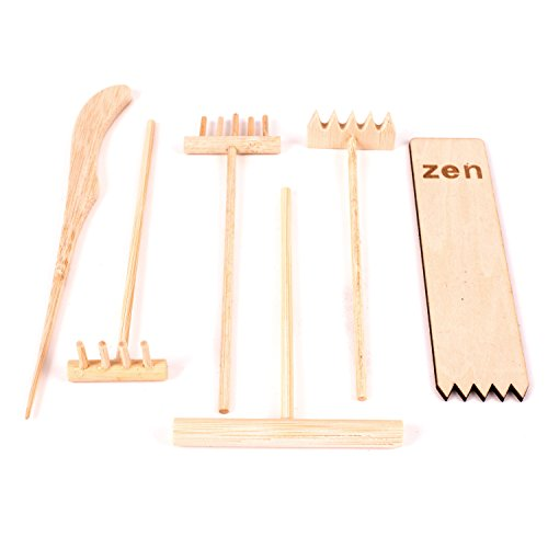 Deluxe-Wooden-Zen-Sand-Garden-with-6-Types-of-Rakes-2-Meditation-Figurines-Sand-and-Rocks-Model-RG-003